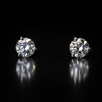 1 ct total weight diamond stud earrings