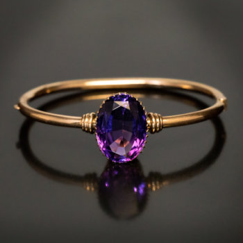 antique Russian amethyst bangle bracelet