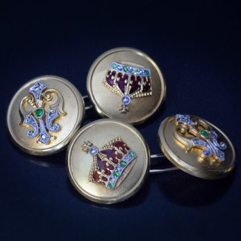 antique royal presentation gold cufflinks