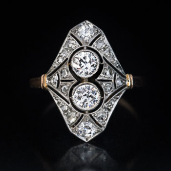 Edwardian antique diamond engagement ring