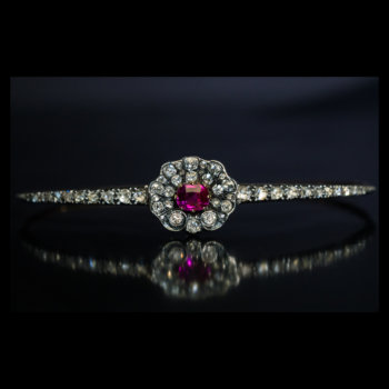 antique Victorian ruby diamond bracelet
