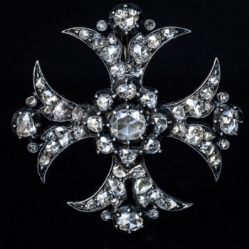 antique Maltese diamond cross