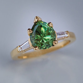 Russian 2.85 ct Demantoid Garnet Ring