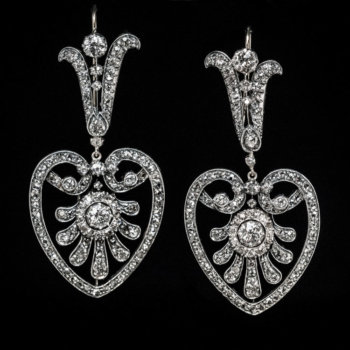 Belle Epoque antique diamond earrings