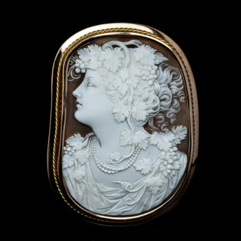 antique bacchante shell cameo