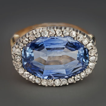 natural untreated 10 ct Ceylon sapphire ring
