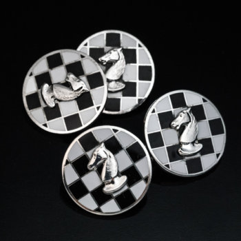 chess themed cufflinks