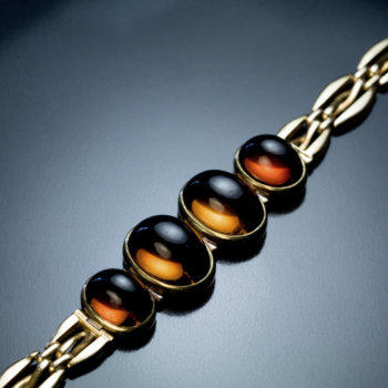 antique cat's eye citrine bracelet