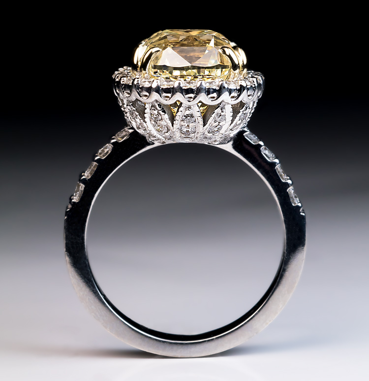 5 37 Carat Fancy Color Diamond Engagement Ring Antique Jewelry