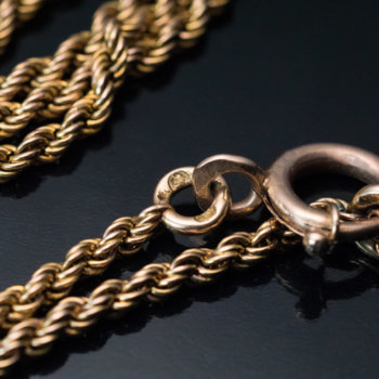 antique gold rope chain necklace