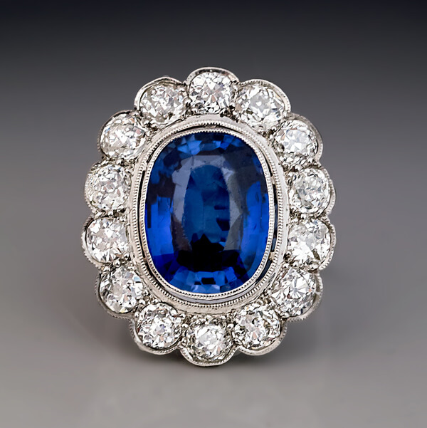 Faberge Sapphire Ring And Earings