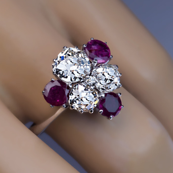 vintage ruby diamond engagement ring