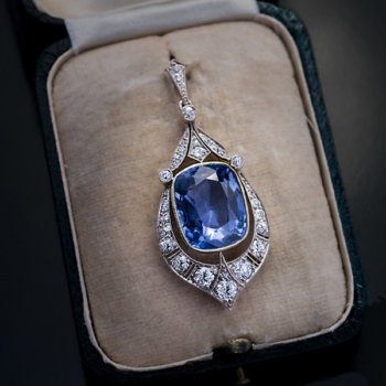 12 ct natural sapphire pendant