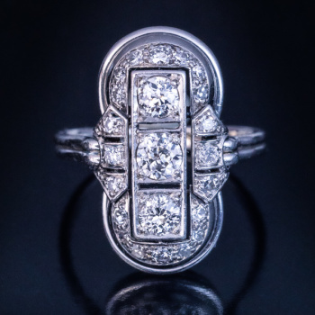 Art Deco 1930s vintage platinum diamond ring