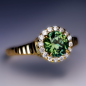 Demantoid garnet rings