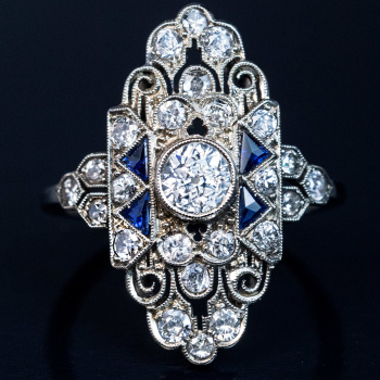 ornate Art Deco ring
