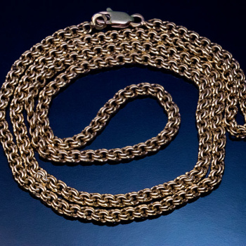 antique gold chain neckalce