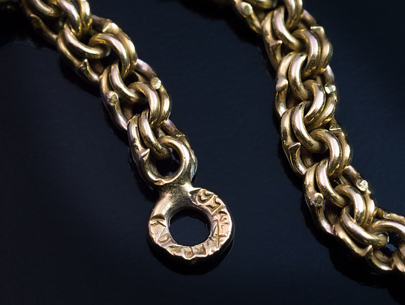 23 Inch Antique Russian Gold Chain Necklace Antique Jewelry