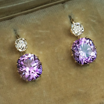 Russian amethyst earrings