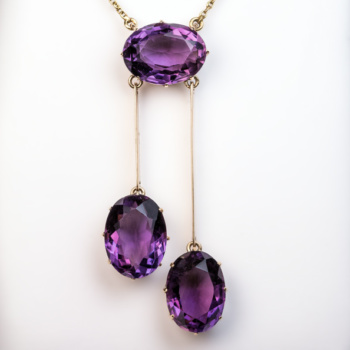 antique Russian amethyst necklace
