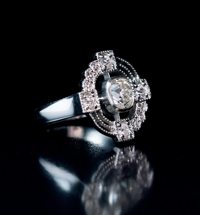 raw avens rough ring asymmetrical with diamond rings