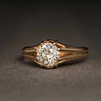 1 ct old european cut diamond ring
