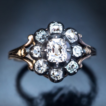 antique Georgian diamond ring