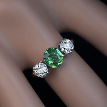 demantoid jewelry rings