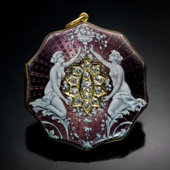 Belle Epoque antique enamel jewelry