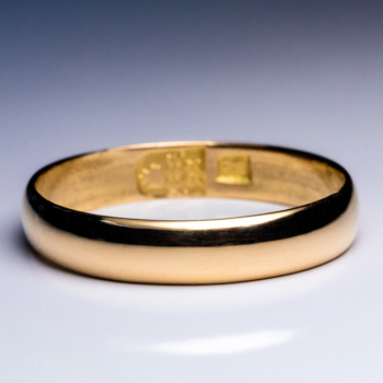 antique 23K gold wedding band ring