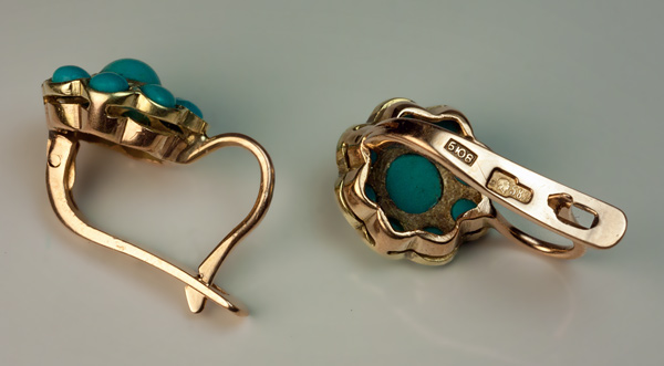 Vintage Turquoise Cer Earrings