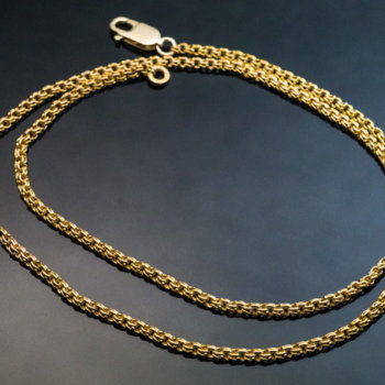antique woven gold necklace