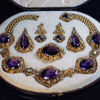 antique parure jewelry set