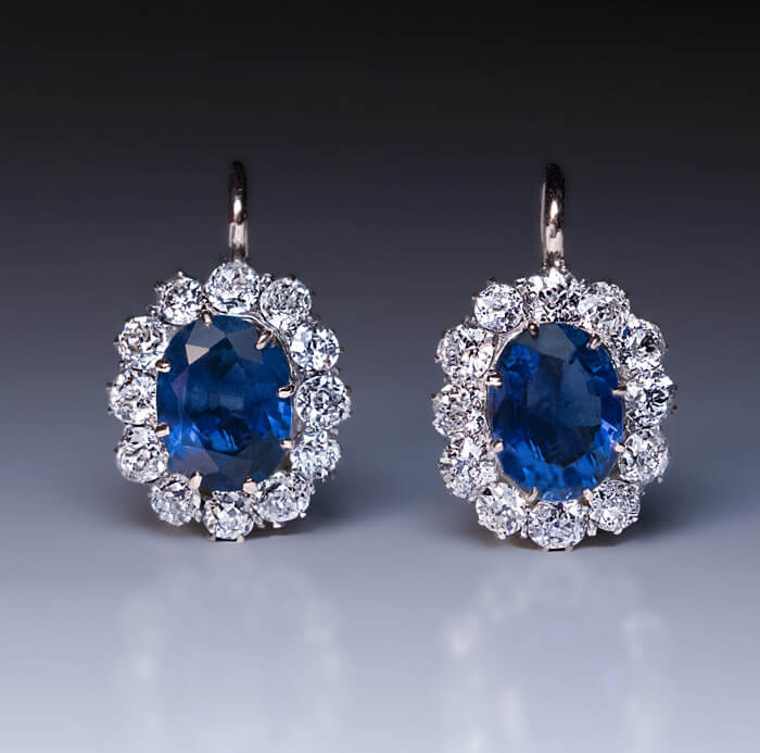 faberge vintage sapphire cttw jewelry earrings cluster eggs diamond rings russian antique