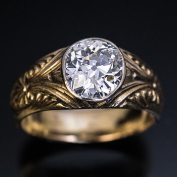 antique diamond mens ring