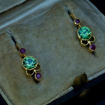 Russian demantoid earrings