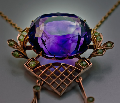 Antique Amethyst Jewelry Siberian Amethyst Gold