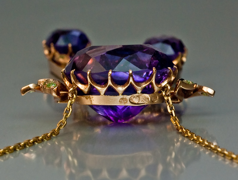 Antique Amethyst Jewelry Siberian Amethyst Gold Antique