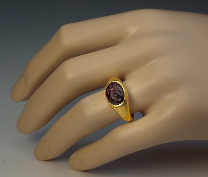Ancient Intaglio Signet Gold Ring