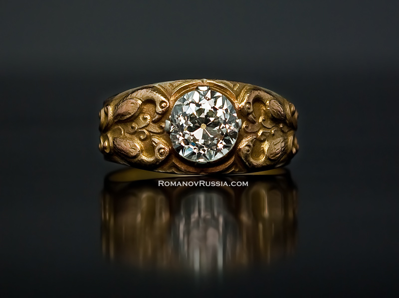 Antique 2 Ct Diamond Medieval Style Mens Rings Antique Jewelry