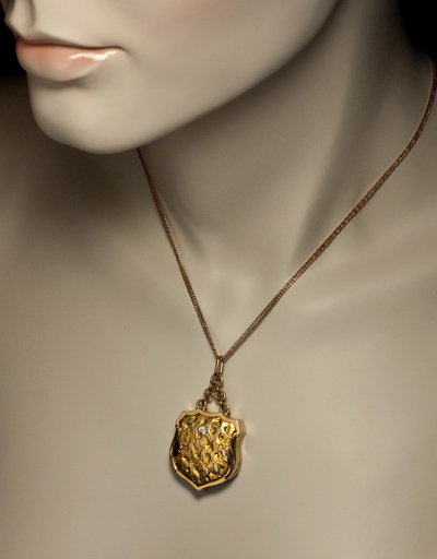 Antique Gold Nugget Locket Pendant Russian Antique Gold Jewelry