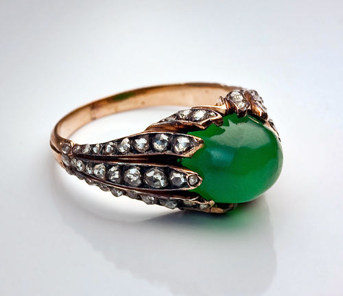 antique rings chrysoprase and cut ring c
