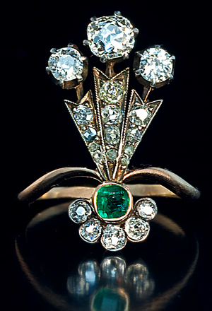 Belle Epoque Jewelry | Antique Diamond & Emerald - Antique ...