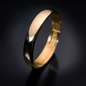 antique high carat gold wedding band ring