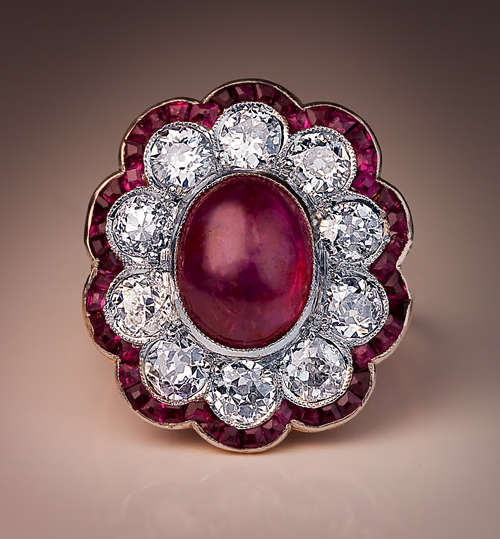 antique ruby edwardian engagement ring antique