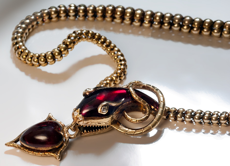 Mid 19th Century Snake Necklace Victorian Jewelry Antique