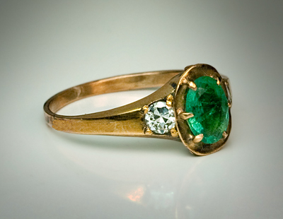 vintage emerald rings emerald and locket ring
