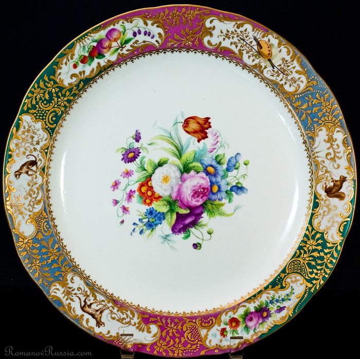 Russian Imperial Porcelain Factory Mikhailovsky Service Plate  sc 1 st  RomanovRussia : imperial dinnerware - pezcame.com