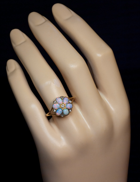 Antique Opal and Diamond Ring | Antique and Vintage Opal Jewelry - Antique  Jewelry | Vintage Rings | Faberge Eggs