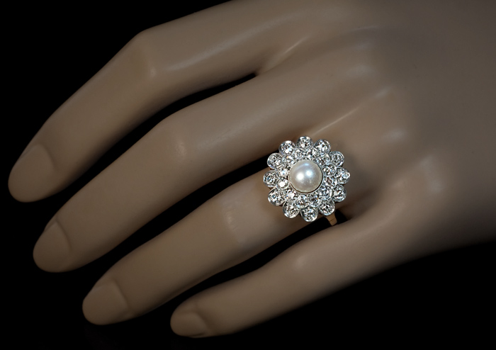 diamond aron henry wedding pearl engagement ring rings